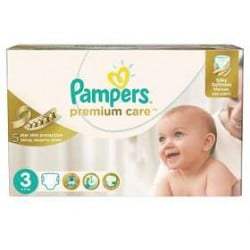 Mega pack 180 Couches Pampers Premium Care taille 3 sur 123 Couches
