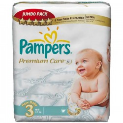 Giga pack 200 Couches Pampers Premium Care taille 3 sur 123 Couches