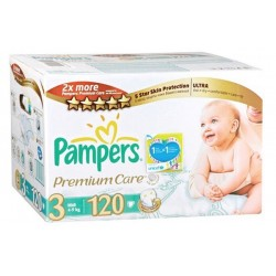 Giga pack 240 Couches Pampers Premium Care taille 3 sur 123 Couches