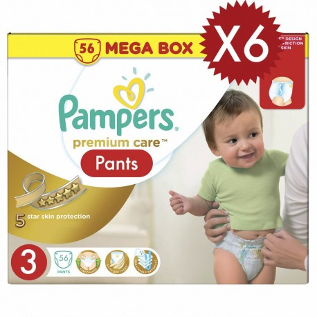 Giga pack 260 Couches Pampers Premium Care taille 3 sur 123 Couches