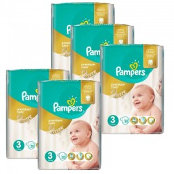 Maxi mega pack 400 Couches Pampers Premium Care taille 3 sur 123 Couches