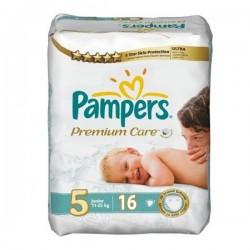 Pack de 16 Couches de la marque Pampers Premium Care de taille 5 sur 123 Couches