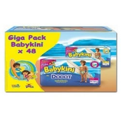 Pack d'une quantité de 48 Couches de bains Dodot de la gamme Baby Kini de taille 3 sur 123 Couches
