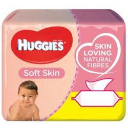 Mega pack 168 Lingettes Bébés Huggies Soft Skin sur 123 Couches