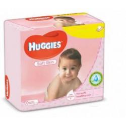 Pack jumeaux 1120 Lingettes Bébés Huggies Soft Skin sur 123 Couches