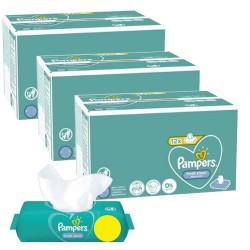 Pack jumeaux 624 Lingettes Bébés Pampers Fresh Clean sur 123 Couches