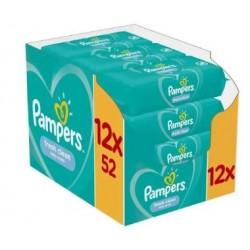 Pack jumeaux 1144 Lingettes Bébés Pampers Fresh Clean sur 123 Couches