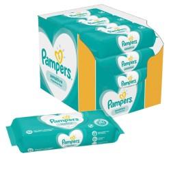 Pack jumeaux 728 Lingettes Bébés Pampers Sensitive sur 123 Couches