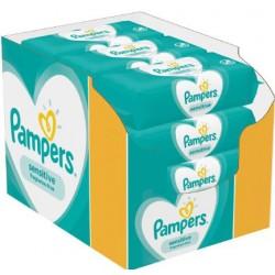 Pack jumeaux 1144 Lingettes Bébés Pampers Sensitive sur 123 Couches