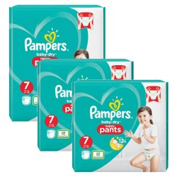 Pack 63 Couches Pampers Baby Dry Pants taille 7 sur 123 Couches