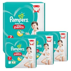 Mega pack 168 Couches Pampers Baby Dry Pants taille 7 sur 123 Couches