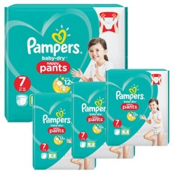 Giga pack 231 Couches Pampers Baby Dry Pants taille 7 sur 123 Couches