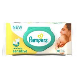 Pack 50 Lingettes Bébés Pampers de la gamme New Baby Sensitive sur 123 Couches