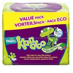 Pack économique d'une quantité de 250 Lingettes Bébés Pampers Kandoo Melon - 5 Packs de 55