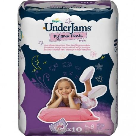 Pack d'une quantité de 10 Sous-vêtements jetables de la marque Pampers Underjams de taille S/M sur 123 Couches