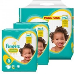 Giga pack 272 Couches Pampers New Baby Premium Protection taille 5 sur 123 Couches