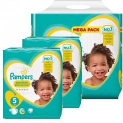 Maxi mega pack 408 Couches Pampers New Baby Premium Protection taille 5 sur 123 Couches