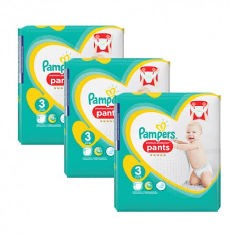 245 Couches Pampers Premium Protection Pants taille 3 sur 123 Couches