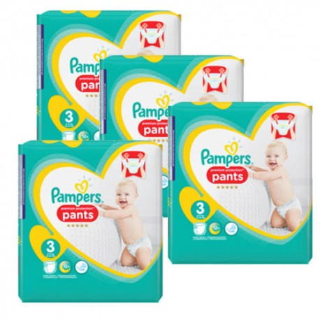 Giga pack 280 Couches Pampers Premium Protection Pants taille 3 sur 123 Couches