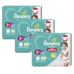 Mega pack 102 Couches Pampers Baby Dry Pants taille 5+ sur 123 Couches