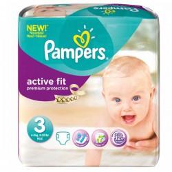 Pack de 42 Couches de la marque Pampers Active Fit de taille 3 sur 123 Couches