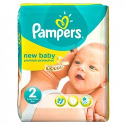 Pack 66 Couches Pampers New Baby Dry taille 2