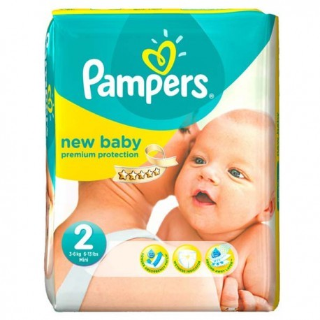 Pack 66 Couches Pampers New Baby Dry taille 2 sur 123 Couches