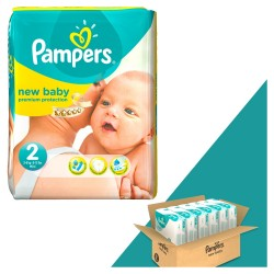 Mega pack 198 Couches Pampers New Baby Dry taille 2 sur 123 Couches