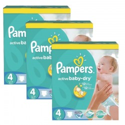 Mega pack 196 Couches Pampers Active Baby Dry taille 4 sur 123 Couches
