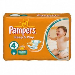 Pack 68 Couches Pampers Sleep & Play taille 4 sur 123 Couches