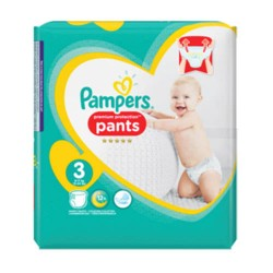 Pack 35 Couches Pampers Premium Protection Pants taille 3