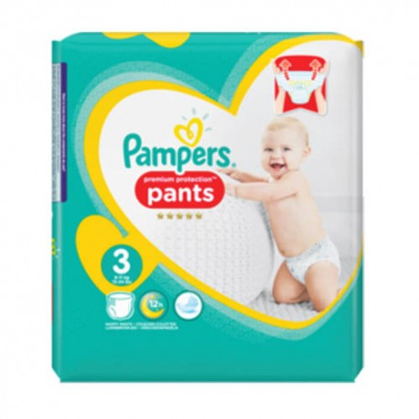 Pack 35 Couches Pampers Premium Protection Pants taille 3 sur 123 Couches