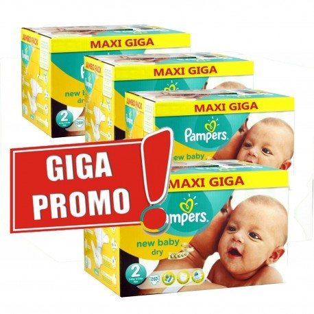 Maxi mega pack 480 Couches Pampers New Baby Dry taille 2 sur 123 Couches