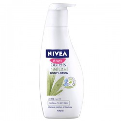 Flacon Lotion Lavante de la marque Nivea baby Pure & Natural sur 123 Couches