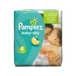 Pack 23 Couches Pampers Baby Dry taille 4