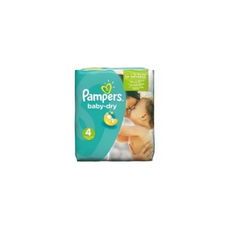 Pack 23 Couches Pampers Baby Dry taille 4 sur 123 Couches
