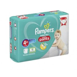 Pack 99 Couches Pampers Baby Dry Pants taille 4+ sur 123 Couches