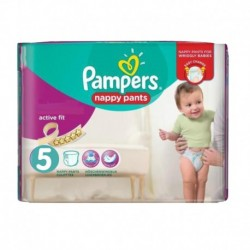 Pack 17 Couches Pampers Active Fit Pants taille 5 sur 123 Couches