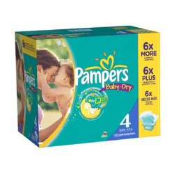 Pack 264 Couches de Pampers Baby Dry taille 4 sur 123 Couches