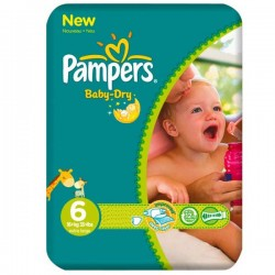 Pack 31 Couches Pampers Baby Dry taille 6 sur 123 Couches