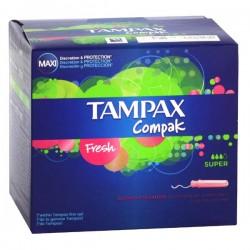 Pack d'une quantité de 80 Tampons Tampax Compak de taille SuperavecApplicateur sur 123 Couches