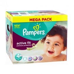 Maxi Pack d'une quantité de 250 Couches de la marque Pampers Active Fit de taille 4+
