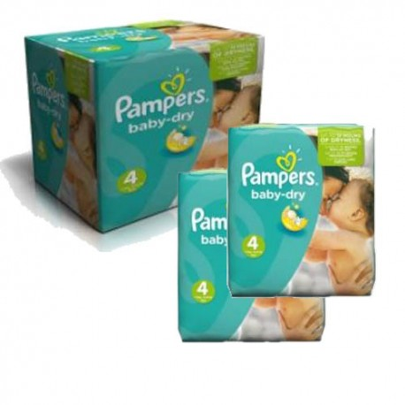 Giga pack 207 Couches Pampers Baby Dry taille 4 sur 123 Couches