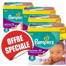 Giga pack 240 Couches Pampers Active Fit taille 6 sur 123 Couches