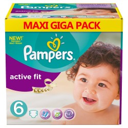 Maxi giga pack 360 Couches Pampers Active Fit taille 6 sur 123 Couches