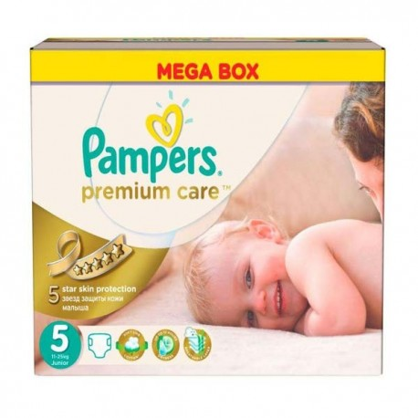 Pack 60 Couches Pampers Premium Care taille 5 sur 123 Couches