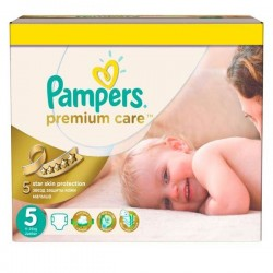 Giga pack 200 Couches Pampers Premium Care taille 5 sur 123 Couches