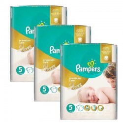Maxi giga pack 320 Couches Pampers Premium Care taille 5 sur 123 Couches