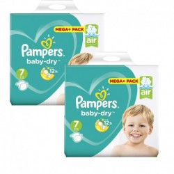 Pack 42 Couches Pampers Baby Dry taille 7 sur 123 Couches