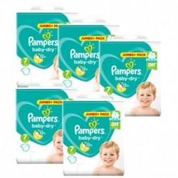 Pack 63 Couches Pampers Baby Dry taille 7 sur 123 Couches